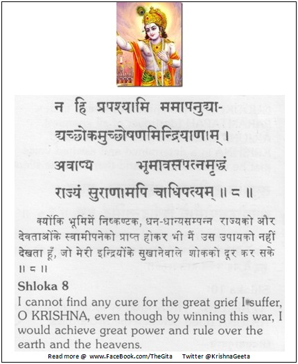 The Gita - Chapter 2 - Shloka 8