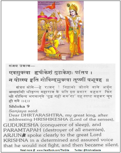 The Gita - Chapter 2 - Shloka 9