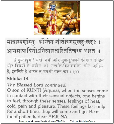 The Gita - Chapter 2 - Shloka 14