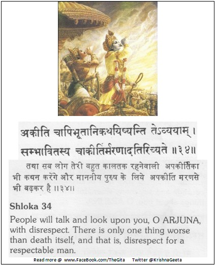 Bhagwad Geeta 2-34 - TheGita.net