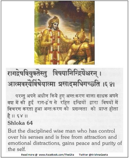 Bhagwad Geeta 2-64 - TheGita.net