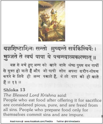 The Gita - Chapter 3 - Shloka 13