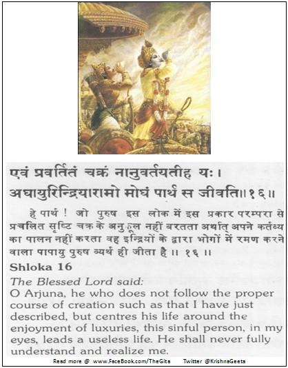 Bhagwad Geeta 3-16 - TheGita.net