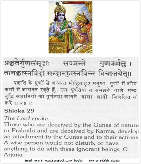 Bhagwad Geeta 3-29 - TheGita.net
