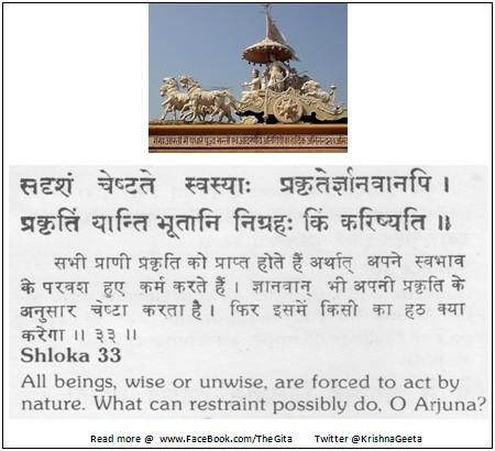 Bhagwad Geeta 3-33 - TheGita.net