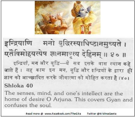 The Gita - Chapter 3 - Shloka 40
