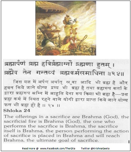 The Gita - Chapter 4 - Shloka 24