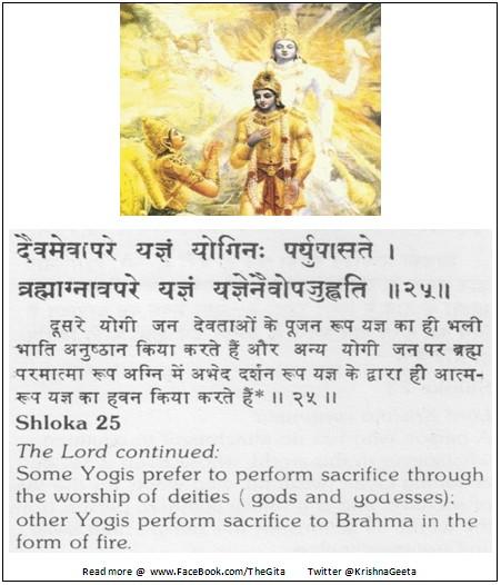 The Gita - Chapter 4 - Shloka 25