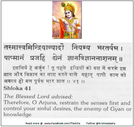 The Gita - Chapter 3 - Shloka 41