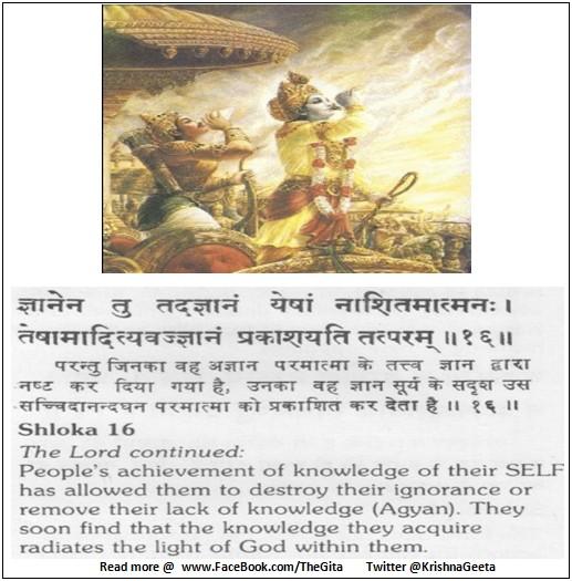 Bhagwad Geeta 5-16 - TheGita.net