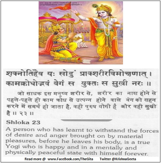 The Gita - Chapter 5 - Shloka 23