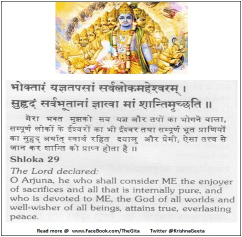 The Gita - Chapter 5 - Shloka 29