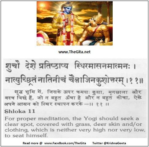 The Gita - Chapter 6 - Shloka 11