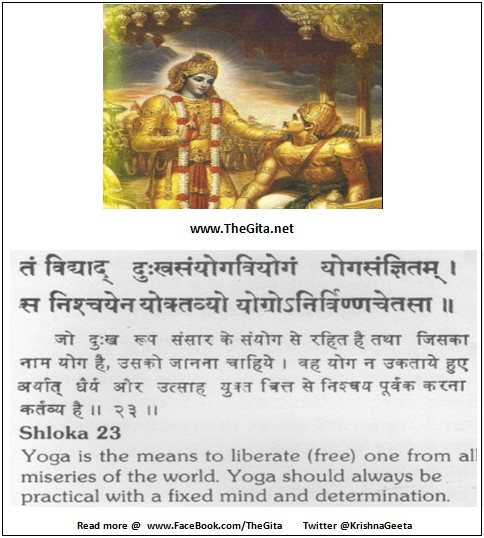 The Gita - Chapter 6 - Shloka 23