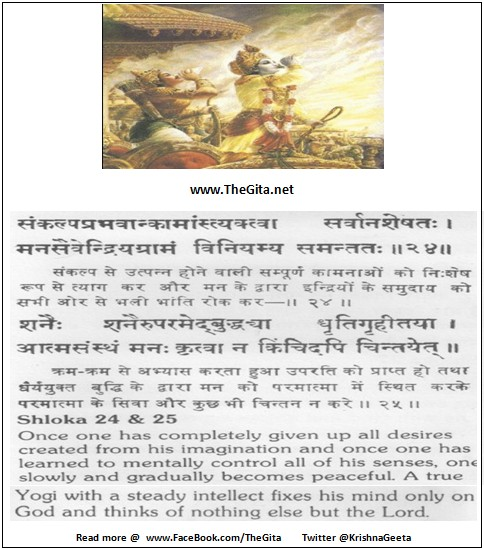 The Gita - Chapter 6 - Shloka 24 - 25