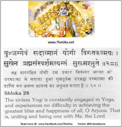 The Gita - Chapter 6 - Shloka 28