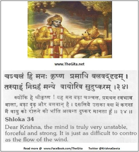 Bhagwad Geeta 6-34- TheGita.net