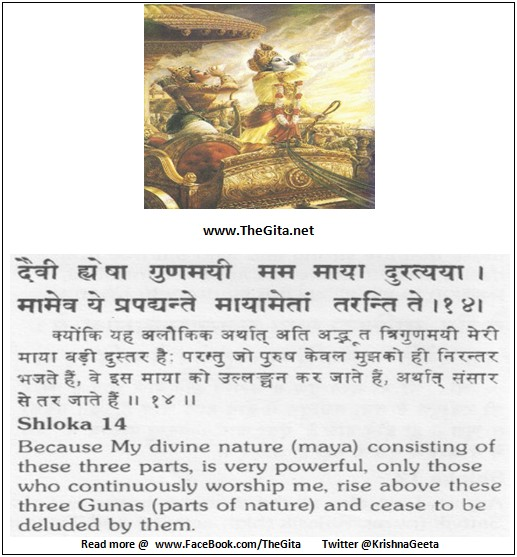 The Gita - Chapter 7 - Shloka 14