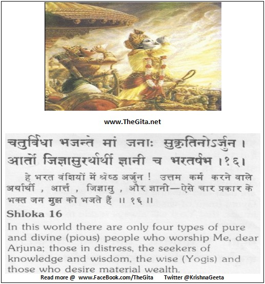 The Gita - Chapter 7 - Shloka 16