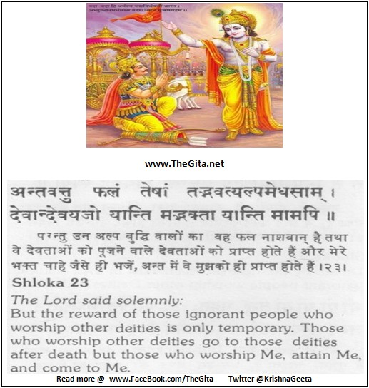 The Gita - Chapter 7 - Shloka 23