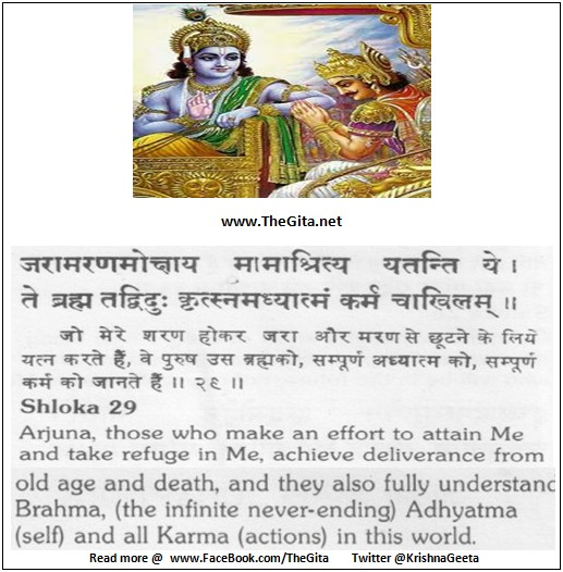 The Gita - Chapter 7 - Shloka 29