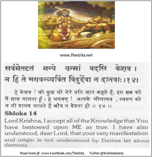 The Gita - Chapter 10 - Shloka 14