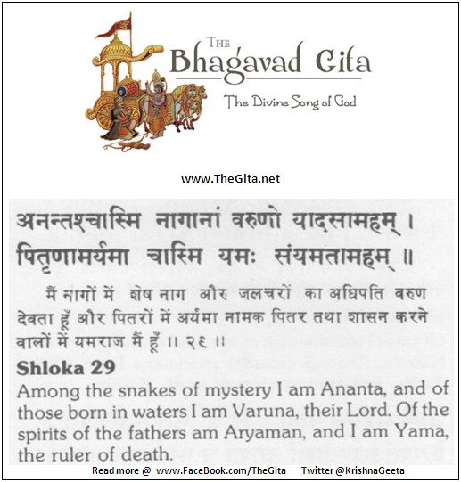 The Gita - Chapter 10 - Shloka 29