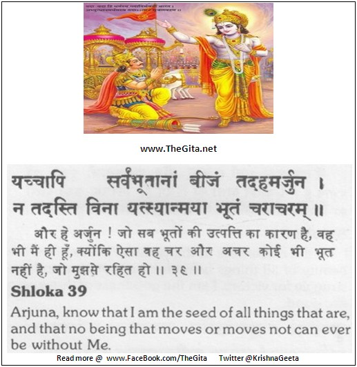 The Gita - Chapter 10 - Shloka 39