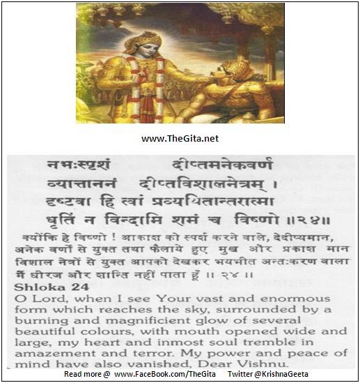 The Gita - Chapter 11 - Shloka 24