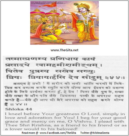 The Gita – Chapter 11 – Shloka 44