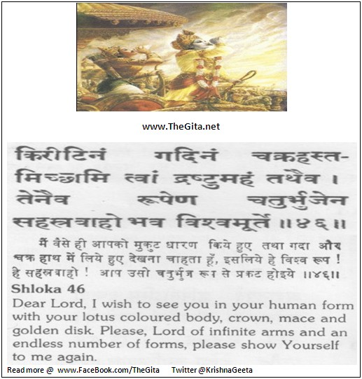 The Gita – Chapter 11 – Shloka 46