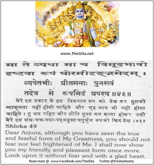 The Gita – Chapter 11 – Shloka 49