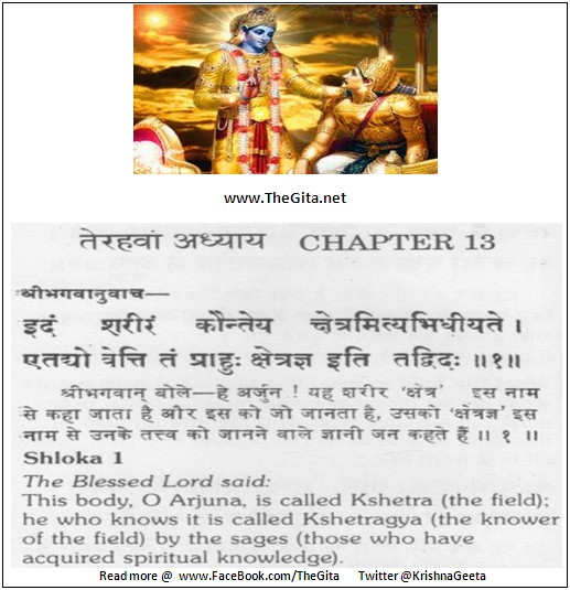 The Gita – Chapter 13 – Shloka 01