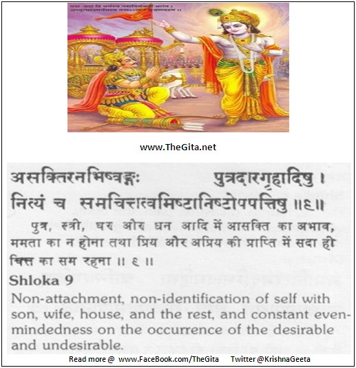 The Gita – Chapter 13 – Shloka 09
