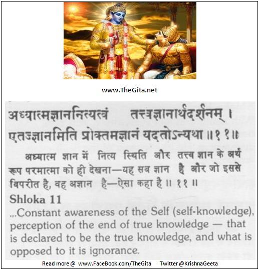 The Gita – Chapter 13 – Shloka 11