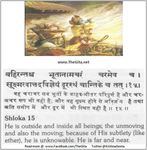 The Gita – Chapter 13 – Shloka 15