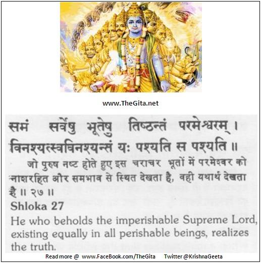 Bhagwad Geeta 13-27- TheGita.net