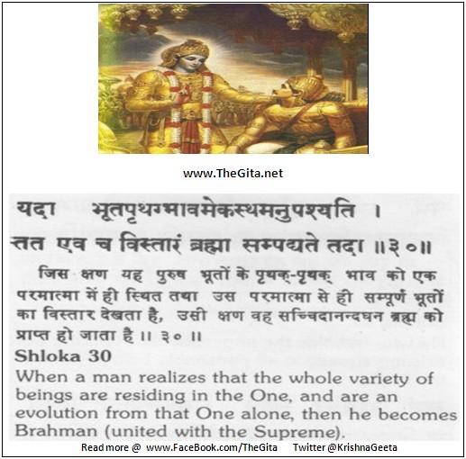 The Gita – Chapter 13 – Shloka 30