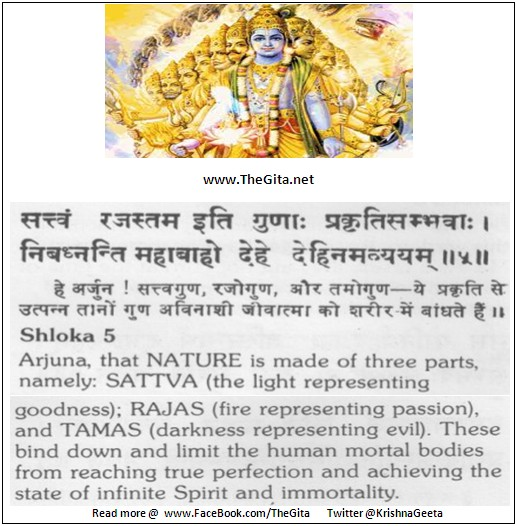 The Gita – Chapter 14 – Shloka 05