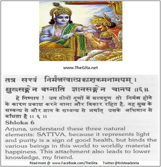 The Gita – Chapter 14 – Shloka 06