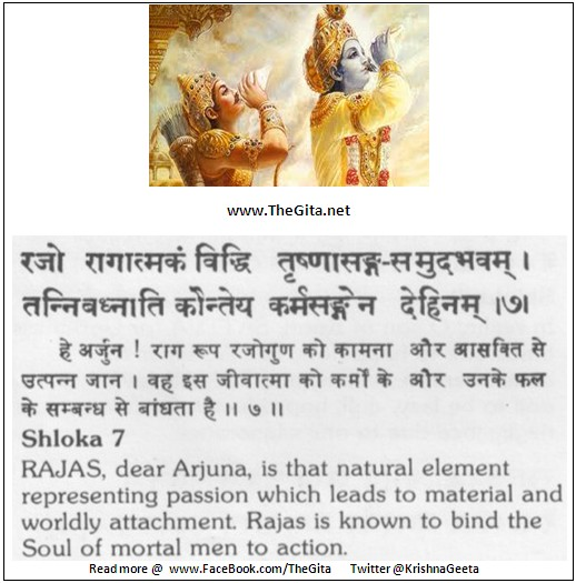 The Gita – Chapter 14 – Shloka 07
