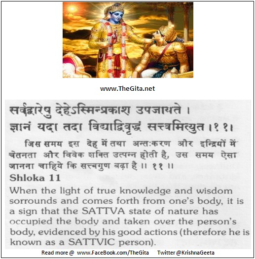 The Gita – Chapter 14 – Shloka 11