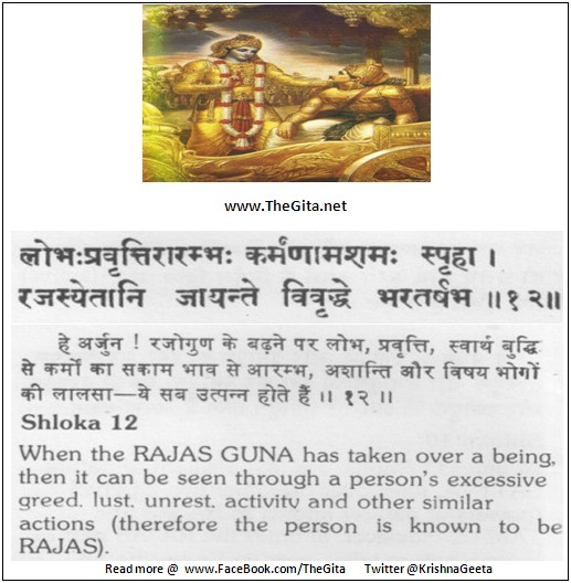 The Gita – Chapter 14 – Shloka 12