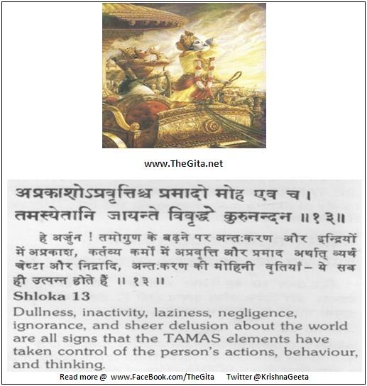 Bhagwad Geeta 14-13- TheGita.net