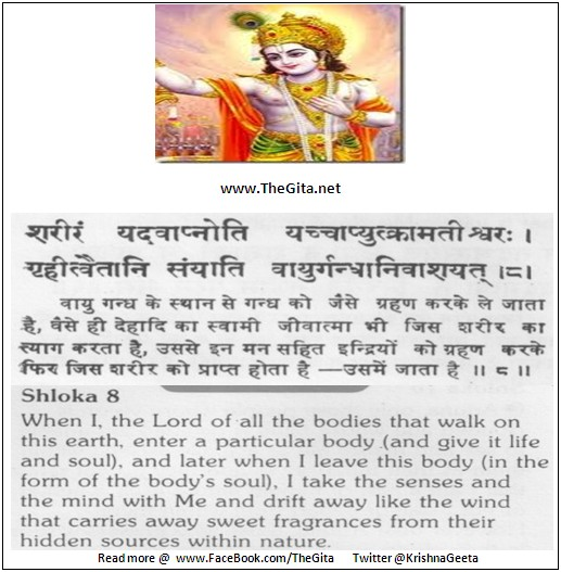 The Gita – Chapter 15 – Shloka 08