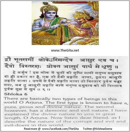 The Gita – Chapter 16 – Shloka 06