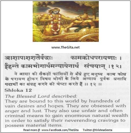 The Gita – Chapter 16 – Shloka 12