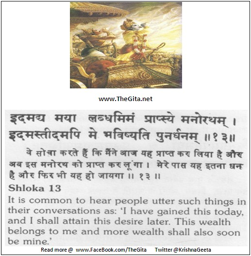 The Gita – Chapter 16 – Shloka 13