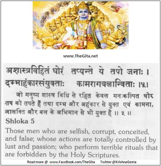 The Gita – Chapter 17 – Shloka 05