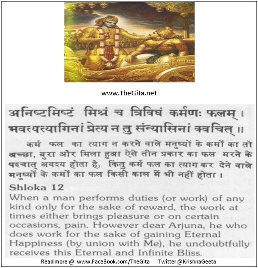 The Gita – Chapter 18 – Shloka 12